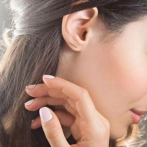 Jewelry - 14k White Gold Bar Earrings